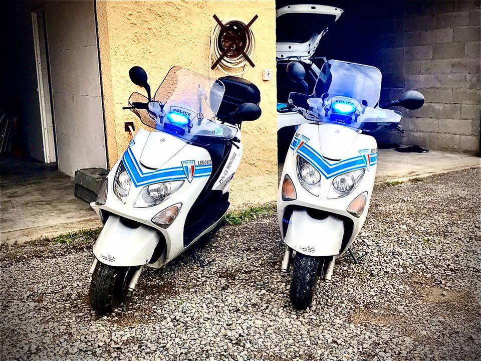 Scooters Police Leucate